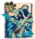 Prints & Multiples, Frank Stella (b. 1936). Had Gadya: Back Cover, from Illustrations After El Lissitzky's Had Gaya, 1982-84. Lithograph...