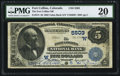 National Bank Notes:Colorado, Fort Collins, CO - $5 1882 Value Back Fr. 574 The Fort Collins NB Ch. # (W)5503. ...