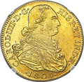 Colombia, Colombia: Charles IV gold 8 Escudos 1801 NR-JJ MS63 NGC,...