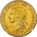 Colombia, Colombia: Republic gold 20 Pesos 1869/8-POPAYAN AU Details (Harshly Cleaned) NGC,...