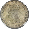 Colombia, Colombia: Cundinamarca. 8 Reales 1820-JF AU Details (Obv Graffiti) NGC,...