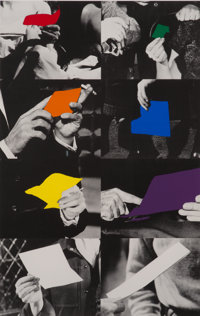 John Baldessari (b. 1931) Two Unfinished Letters, 1996 Screenprint and photo-lithograph in colors on