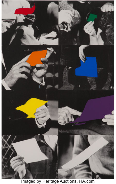 John Baldessari (b. 1931) Two Unfinished Letters, 1996 Screenprint and photo-lithograph in colors on Arches 88 paper ...