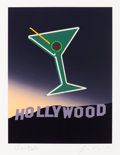 Fine Art - Work on Paper:Print, John Register (1939-1996). Hollywood, 1989. Silkscreen incolors on heavy wove paper. 14-3/4 x 11-1/4 inches (37.5 x 28....