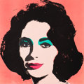 Fine Art - Work on Paper:Print, Andy Warhol (1928-1987). Liz, 1964. Offset lithograph incolors on wove paper. 22 x 22 inches (55.9 x 55.9 cm) (image). ...