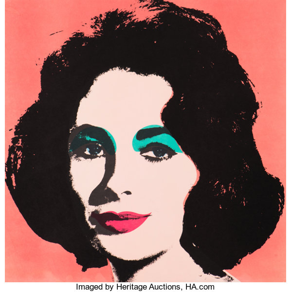 andy warhol 1928 1987 liz 1964 offset lithograph in colors on