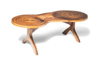 Arthur Espenet Carpenter (American, 1920-2006) Unique Double-Trunk Table, 1977 Genisaro wood with eb
