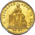 Chile, Chile: Republic gold 10 Pesos 1865-So MS62 NGC,...