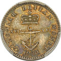 British West Indies, British West Indies: British Colony. George IV Proof 1/16 Dollar1820 PR64 PCGS,...