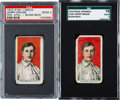 Baseball Cards:Lots, 1910 E104-1 Nadja Caramels Harry Krause (Blank Back) Pair (2). ...