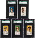 Baseball Cards:Lots, 1910 E104-1 Nadja Caramels (Blank Back) SGC-Graded Collection (5Different). ...