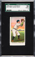 Baseball Cards:Singles (Pre-1930), 1909 E92 Nadja Caramels Fred Jacklitsch SGC 50 VG/EX 4 - Pop Three,None Higher....