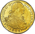 Colombia, Colombia: Charles IV gold 8 Escudos 1805 P-JT AU58 NGC,...