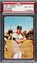 Baseball Cards:Singles (1960-1969), 1960 Morrell Meats Wally Moon PSA NM-MT 8 - None Higher. ...