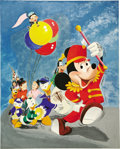 Illustration:Magazine, AMERICAN ILLUSTRATOR (20th Century) . Original box coverillustration for Mickey Mouse Club Pencil Coloring Set .Waterc... (Total: 2 Items)