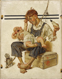 JOSEPH CHRISTIAN LEYENDECKER (American 1874 - 1951) Original cover illustration for The Saturday Evening Post, August...