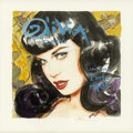 Illustration:Pin-Up, OLIVIA DE BERARDINIS (American b. 1948) . Olivia 2006 FeaturingBettie Page, original calendar cover preliminary illustr...(Total: 1 Item)