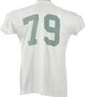 Football Collectibles:Uniforms, 1963 Dave Wilcox Practice Worn University of Oregon Jersey from the Dave Wilcox Collection. Hall of Fame prehistory on a bu...