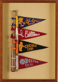 Baseball Collectibles:Others, Vintage Baseball Pennants Lot of 6. The fans of yesteryear enjoyedpennants such as the ones offered as mementos to their l...