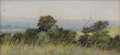 Texas:Early Texas Art - Impressionists, FRANK REAUGH (1860-1945). Untitled Prairie View. Pastel on gritpaper. 3 x 6-3/4 inches (7.6 x 17.1 cm). Unsigned, authentic...