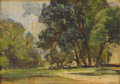 Texas:Early Texas Art - Impressionists, ALICE ADKINS MEREDITH (b. 1905). Trees on Turtle Creek. Oilon canvasboard. 10 x 14 inches (25.4 x 35.6 cm). Signed and ...