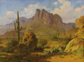Texas:Early Texas Art - Regionalists, E. L. BOONE (1883-1952). Untitled Desert Landscape. Oil on canvas.18 x 24 inches (45.7 x 61.0 cm). Signed lower left. ...