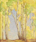 Fine Art - Painting, American:Modern  (1900 1949)  , CARL ADOLPH HJALMER PERSSON REDIN (American 1892-1944). Aspensin Autumn. Oil on canvas. 28 x 24-1/8 inches (71.1 x 61.3...