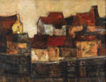 Texas:Early Texas Art - Modernists, CHESTER TONEY (1935-1965). Sea Wall, 1957. Oil on linen. 26x 34 inches (66.0 x 86.4 cm). Signed and dated lower right. ...