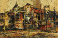 Texas:Early Texas Art - Modernists, CHESTER TONEY (1935-1965). Teatro, 1958. Oil on canvas. 16 x24 inches (40.6 x 61.0 cm). Signed and dated lower right. S...