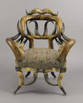 Texas, FRIEDRICH WENZEL (1827-1902). Longhorn Chair, before 1900.38 x 32 x 26 inches (96.5 x 81.3 x 66.0 cm). Unsigned. ...