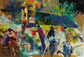 Prints:Contemporary, LEROY NEIMAN (American b. 1926). Left Bank Cafe, 1987.Silkscreen print. 26 x 38 inches (66.0 x 96.5 cm). Ed.: 125/375....