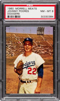 Baseball Cards:Singles (1960-1969), 1960 Morrell Meats Johnny Podres PSA NM-MT 8 - None Higher. ...