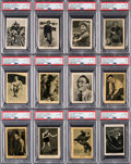 "Non-Sport Cards:Sets, Rare 1922 Boys' Cinema ""Famous Heroes"" Complete Set (24). ..."