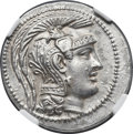 Ancients:Greek, Ancients: ATTICA. Athens. Ca. 165-42 BC. AR tetradrachm (31mm,16.81 gm, 11h). NGC MS 5/5 - 3/5....
