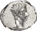 Ancients:Roman Imperial, Ancients: Augustus (27 BC-AD 14). AR denarius (18mm, 3.92 gm, 6h). NGC MS 5/5 - 4/5....