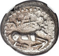 Ancients:Greek, Ancients: CILICIA. Ura. Ca. mid-5th century BC. AR stater (19mm,10.74 gm, 6h). NGC XF 4/5 - 3/5, test cuts....