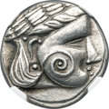 Ancients:Celtic, Ancients: DANUBE REGION. Uncertain tribe. Ca. late 3rd century BC.AR tetradrachm (24mm, 13.02 gm, 8h). NGC XF 4/5 - 4/5....