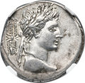 Ancients:Roman Republic, Ancients: Octavian, as Sole Imperator (31-27 BC). AR denarius (19mm, 3.64 gm, 8h). NGC Choice XF 4/5 - 4/5....