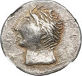 Ancients:Celtic, Ancients: DANUBE REGION. Uncertain tribe. Ca. 3rd century BC. ARtetradrachm (27mm, 12.20 gm, 3h). NGC Choice XF 5/5 - 4/5....