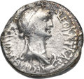 Ancients:Roman Republic, Ancients: Cleopatra VII of Egypt and Marc Antony, rulers of the East (37-31 BC). AR denarius (18mm, 3.19 gm, 12h). NGC (photo certificat...