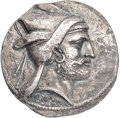 Ancients:Greek, Ancients: KINGDOM OF PERSIS. Bagadat (Bayadad). Mid 3rd century BC. AR tetradrachm (27mm, 16.57 gm, 7h). NGC Choice XF 5/5 - 3/5, Fine S...