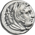 Ancients:Greek, Ancients: MACEDONIAN KINGDOM. Philip III Arrhidaeus (323-317 BC).AR tetradrachm (26mm, 16.80 gm, 2h). NGC Choice AU ★ 5/5 - 4/5....