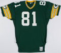 Football Collectibles:Uniforms, 1981 Gary Lewis Game Worn Green Bay Packers Home Jersey.. ...