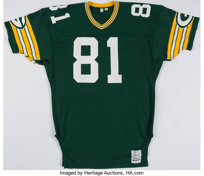 premium selection 0fc30 4c9d1 1981 Gary Lewis Game Worn Green Bay Packers Home Jersey ...