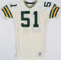 Football Collectibles:Uniforms, 1987 Clayton Weishun Game Worn Green Bay Packers Jersey.. ...