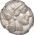 Ancients:Greek, Ancients: ATTICA. Athens. Ca. 454-404 BC. AR tetradrachm (24mm,17.19 gm, 3h). NGC Choice AU ★ 5/5 - 5/5, Fine Style....