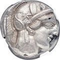 Ancients:Greek, Ancients: ATTICA. Athens. Ca. 454-404 BC. AR tetradrachm (24mm,17.17 gm, 9h). NGC Choice AU 4/5 - 4/5....