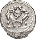 Ancients:Greek, Ancients: PAMPHYLIA. Aspendus. Ca. 325-250 BC. AR stater (24mm,10.49 gm, 12h). NGC Choice XF ★ 5/5 - 4/5, Fine Style....