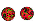 Lapidary Art:Eggs and Spheres, Fluorescent Spheres (Set of 2). Franklin Ore Body. FranklinBorough. Sussex Co, New Jersey, USA. 1.85 inches (4.71 cm) in ...(Total: 2 Items)