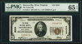 National Bank Notes:West Virginia, Sistersville, WV - $20 1929 Ty. 1 The Union NB Ch. # 5028. ...